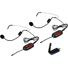 VocoPro Commander-USB-Headset1 Two-Channel Digital UHF Wireless System with Headset Microphones and USB Receiver for PC or Mac (Frequency Set 1)