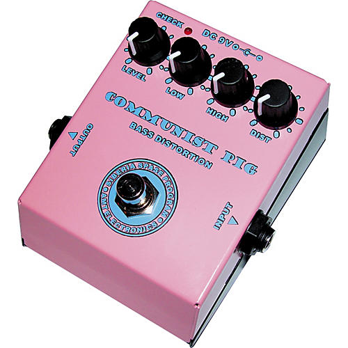AMT Electronics Communist Pig Distortion Bass Effects Pedal
