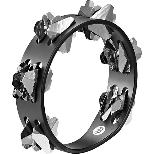 Meinl Compact Super-Dry Wood Tambourine Two Rows Hand-Hammered Stainless Steel Jingles