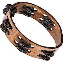 Meinl Compact Wood Tambourine with Double Row Stainless Steel Jingles