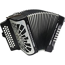 Open Box Hohner Compadre FBbEb with Gig Bag - Silver Grille