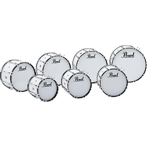 Pearl Competitor Marching Bass Drum Pure White (#33) 20x14