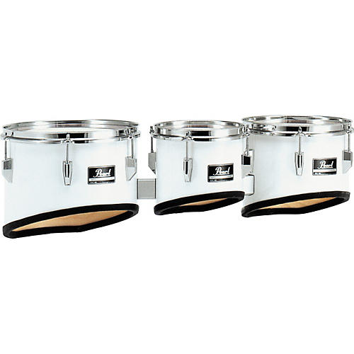 Pearl Competitor Marching Tom Set Condition 1 - Mint Pure White (#33) 8,10,12 set