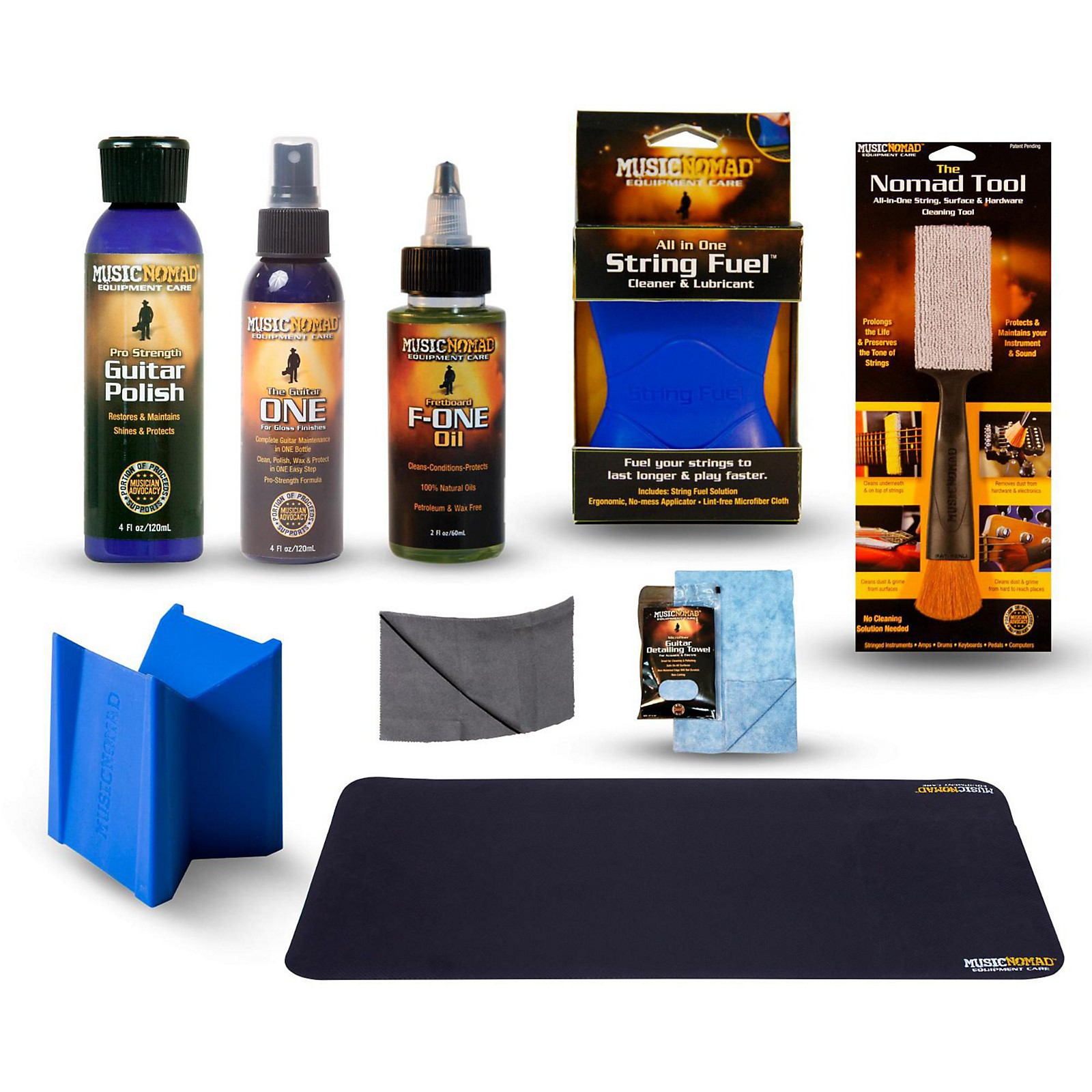 MusicNomad Complete 9-Piece Premium Guitar Care Kit