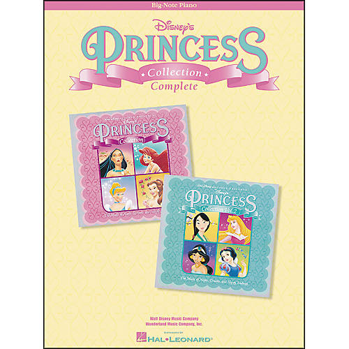 Complete Disney's Princess Collection for Big Note Piano
