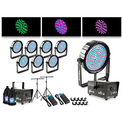 Proline Complete Lighting Package with Eight Thinpar 64 and Two Huricane 700 Fog Machines