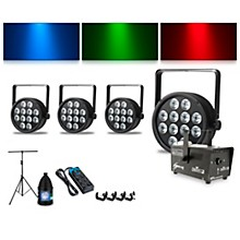 Proline Complete Lighting Package with Four ThinTri 64 and Huricane 700 Fog Machine