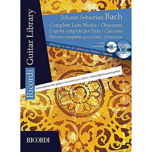 Hal Leonard Complete Lute Works - Chaconne (Guitar) MGB Series Softcover with CD