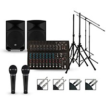 Harbinger Complete PA Package with L1402 Mixer and Mackie Thump Speakers
