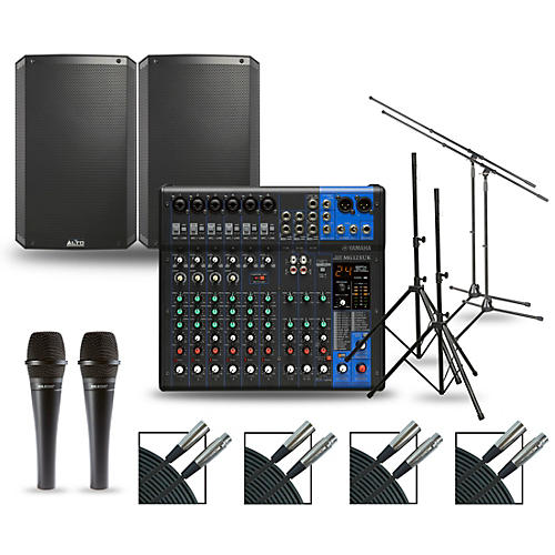Yamaha Complete PA Package with MG12XUK Mixer and Alto TS3 Speakers