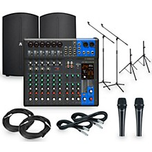 Yamaha Complete PA Package with MG12XUK Mixer and Avante Achromic Series Powered Speakers