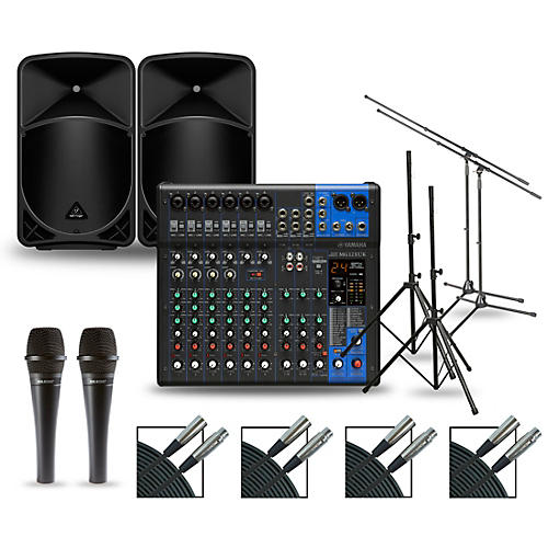 Yamaha Complete PA Package with MG12XUK Mixer and Behringer EUROLIVE BX Speakers