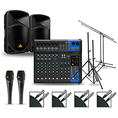 Yamaha Complete PA Package with MG12XUK Mixer and Behringer Eurolive BW Speakers