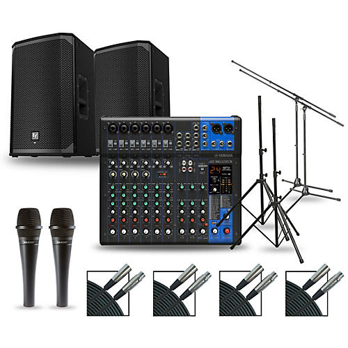 Yamaha Complete PA Package with MG12XUK Mixer and Electro-Voice EKX Speakers