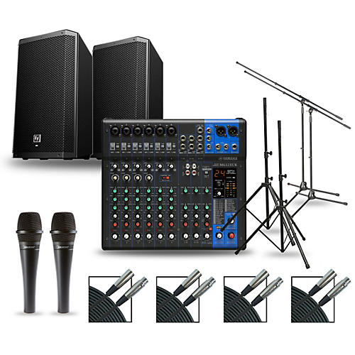 Yamaha Complete PA Package with MG12XUK Mixer and Electro-Voice ZLX Speakers