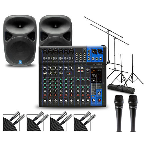 Yamaha Complete PA Package with MG12XUK Mixer and Gem Sound PBX Speakers