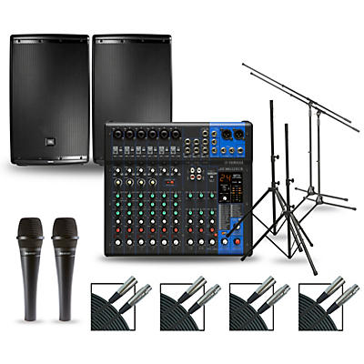 Yamaha Complete PA Package with MG12XUK Mixer and JBL EON600 Speakers