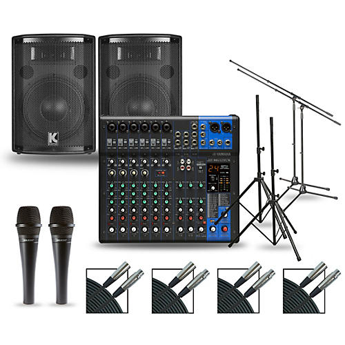 Yamaha Complete PA Package with MG12XUK Mixer and Kustom HiPAC Speakers 10