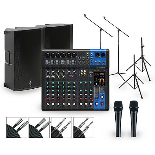 Yamaha Complete PA Package with MG12XUK Mixer and Mackie Thump Active Speakers