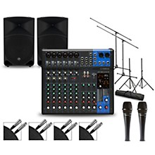 Yamaha Complete PA Package with MG12XUK Mixer and Mackie Thump Speakers