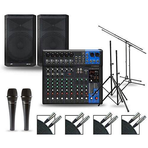 Yamaha Complete PA Package with MG12XUK Mixer and Peavey Dark Matter Speakers