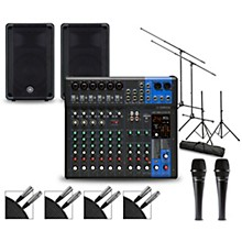 Complete PA Package with MG12XUK Mixer and Yamaha DBR Speakers 10