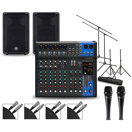 Yamaha Complete PA Package with MG12XUK Mixer and Yamaha DBR Speakers 12