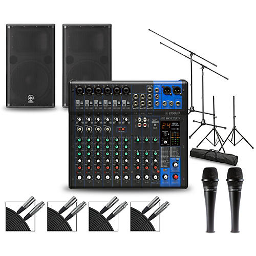 Yamaha Complete PA Package with MG12XUK Mixer and Yamaha DSR Speakers