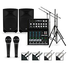 Complete PA Package with Mix8 8-channel Mixer and Thump Series Powered Speakers 15
