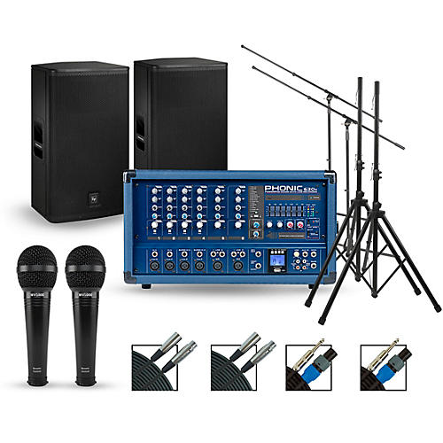 Phonic Complete PA Package with Powerpod 630R Mixer and Electro-Voice ELX Speakers
