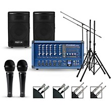 Phonic Complete PA Package with Powerpod 630R Mixer and Kustom KPX Speakers