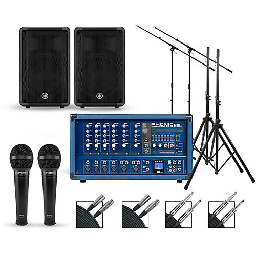 Phonic Complete PA Package with Powerpod 630R Plus Mixer and Yamaha CBR Series Speakers