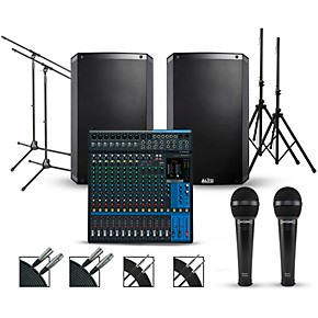 yamaha complete pa package with yamaha mg16xu 16 channel mixer and alto truesonic 2 series. Black Bedroom Furniture Sets. Home Design Ideas