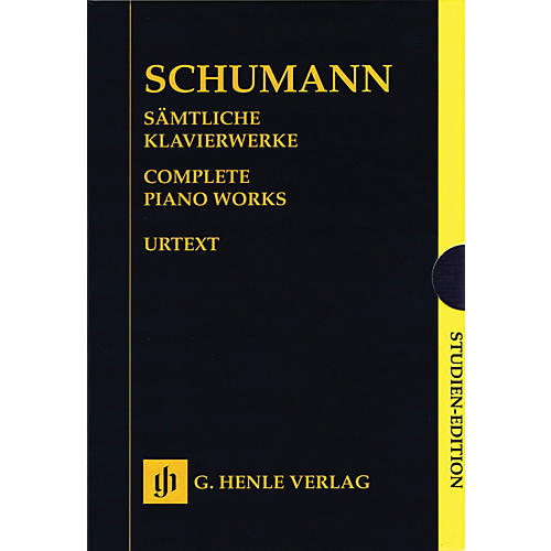 G. Henle Verlag Complete Piano Works - Boxed Set of Study Scores Henle Study Scores Series Softcover by Robert Schumann