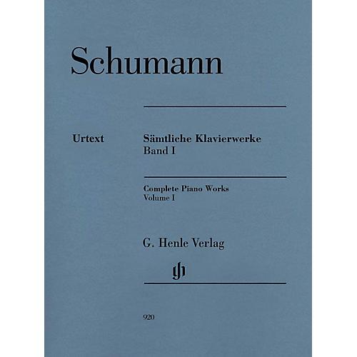 G. Henle Verlag Complete Piano Works - Volume 1 Henle Music Softcover by Robert Schumann Edited by Ernst Herttrich