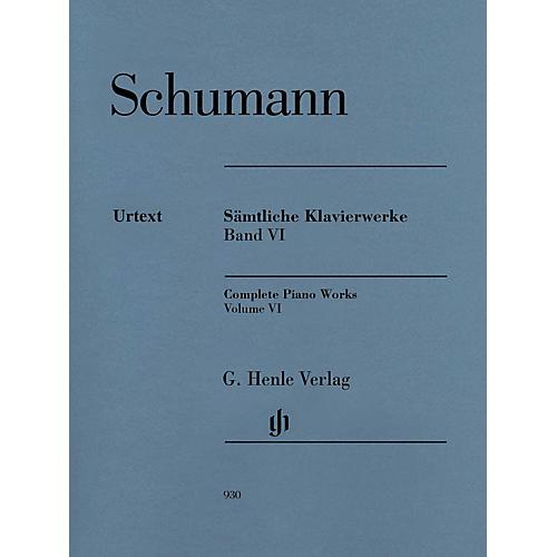 G. Henle Verlag Complete Piano Works - Volume 6 Henle Music Softcover by Robert Schumann Edited by Ernst Herttrich