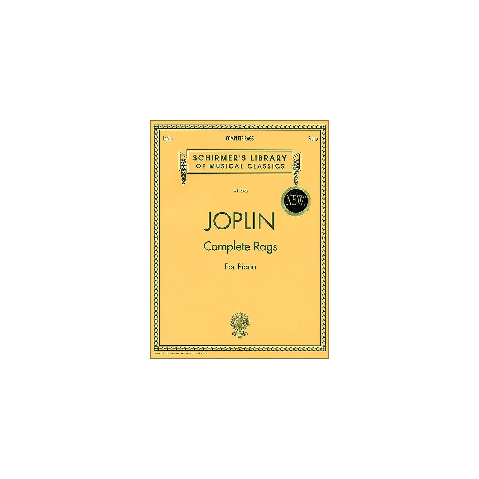 G. Schirmer Complete Rags Piano By Joplin Scott