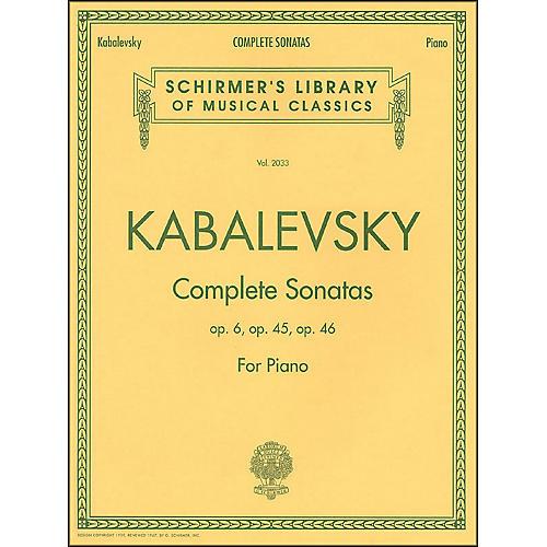 G. Schirmer Complete Sonatas Opus 6, 45, 46 By Kabalevsky