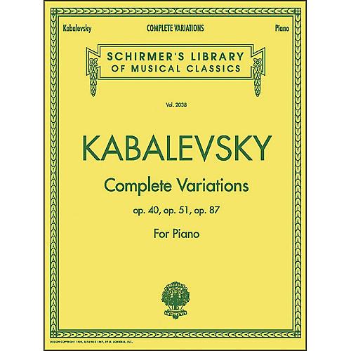 G. Schirmer Complete Variations Op 40 Op 51 Op 87 By Kabalevsky