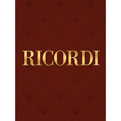 Ricordi Conc in A Major for Strings and Basso Continuo RV158 Study Score by Vivaldi Edited by Angelo Ephrikian