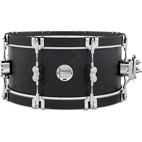 PDP by DW Concept Classic Snare Drum with Wood Hoops 14 x 6.5 in. Ebony/Ebony Hoops