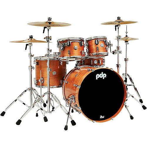 PDP by DW Concept Exotic 5-Piece Maple Shell Pack with Chrome Hardware Honey Mahogany