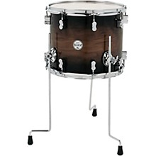 Concept Exotic Series Floor Tom Walnut to Charcoal Burst 14 x 12 in.