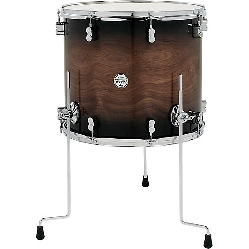 PDP by DW Concept Exotic Series Floor Tom Walnut to Charcoal Burst