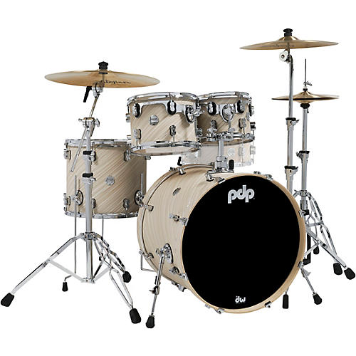 PDP by DW Concept Maple 4-Piece Shell Pack with Chrome Hardware Twisted Ivory