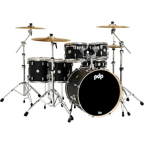 PDP by DW Concept Maple 6-Piece Shell Pack with Chrome Hardware Carbon Fiber