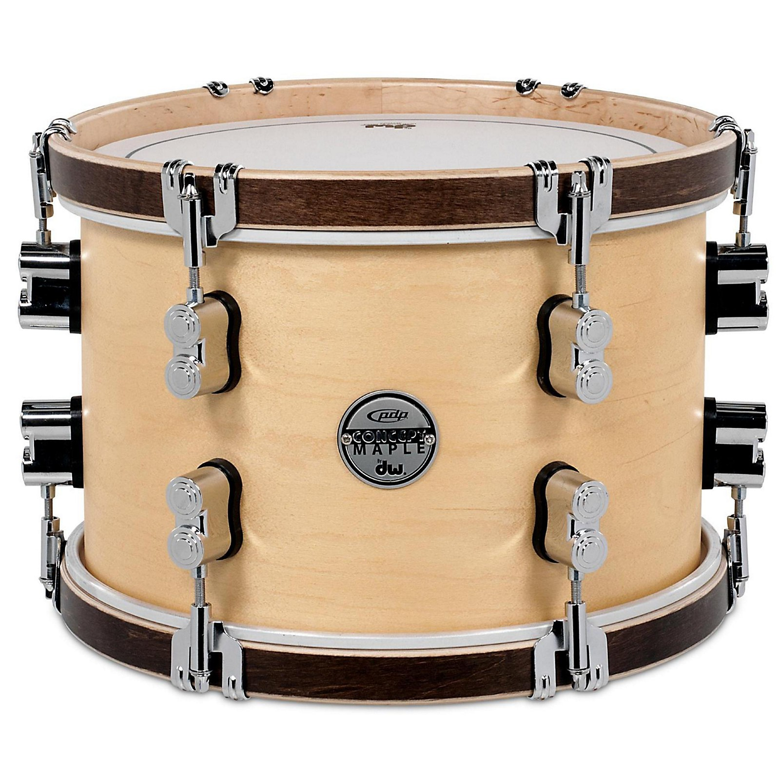 PDP by DW Concept Maple Classic Natural with Tobacco Hoops Tom
