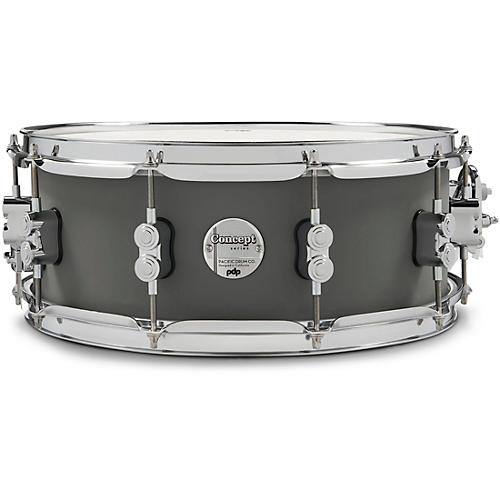 PDP by DW Concept Maple Snare Drum with Chrome Hardware 14 x 5.5 in. Satin Pewter