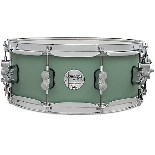 PDP by DW Concept Maple Snare Drum with Chrome Hardware 14 x 5.5 in. Satin Seafoam