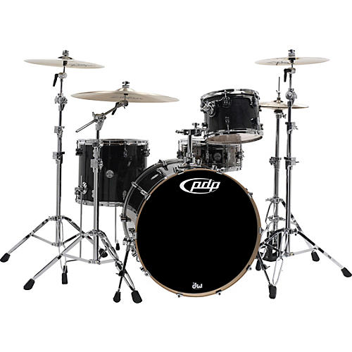 PDP by DW Concept Maple by DW 3-Piece Shell Pack Ebony Stain Lacquer